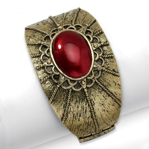 Brass-tone Red Crystal Hinged Cuff Bangle Jewelrypot. $34.99. Fabulous Promotions and Discounts!. 100% Satisfaction Guarantee. Questions? Call 866-923-4446. All Genuine Diamonds, Gemstones, Materials, and Precious Metals. 30 Day Money Back Guarantee. Your item will be shipped the same or next weekday!