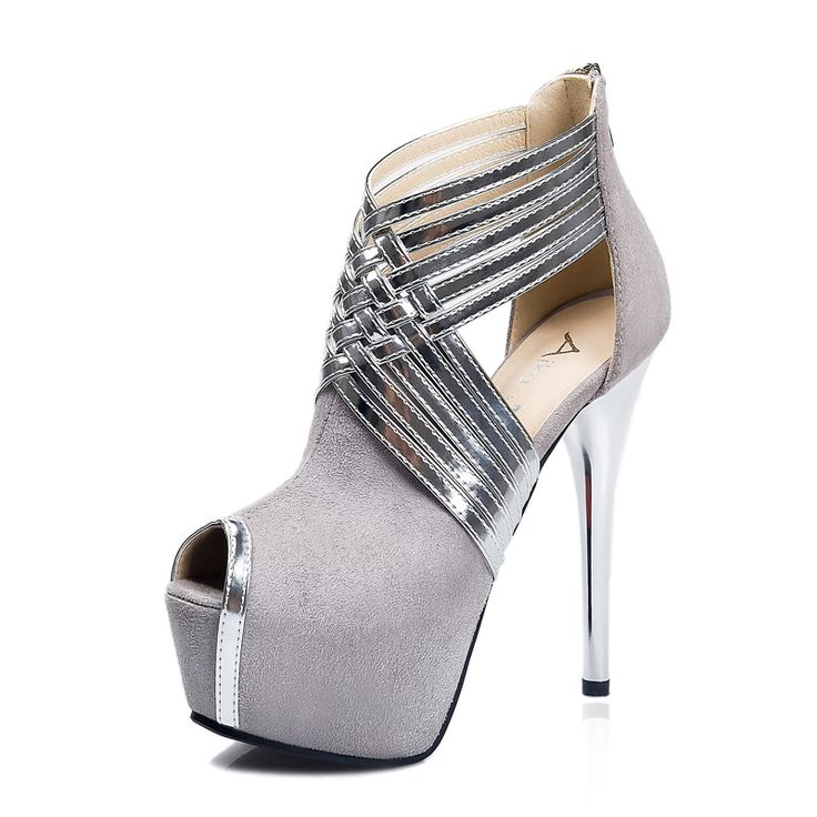 2016 New Designer High Heels Roman Style Pumps Shoes Hollow Heels Peep Toe Sexy  Shoes for women Black Platform Sandals