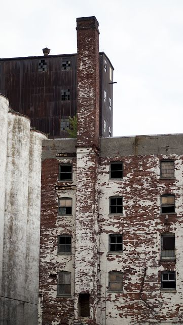 Abandoned silo on the Buffalo River in Western New York