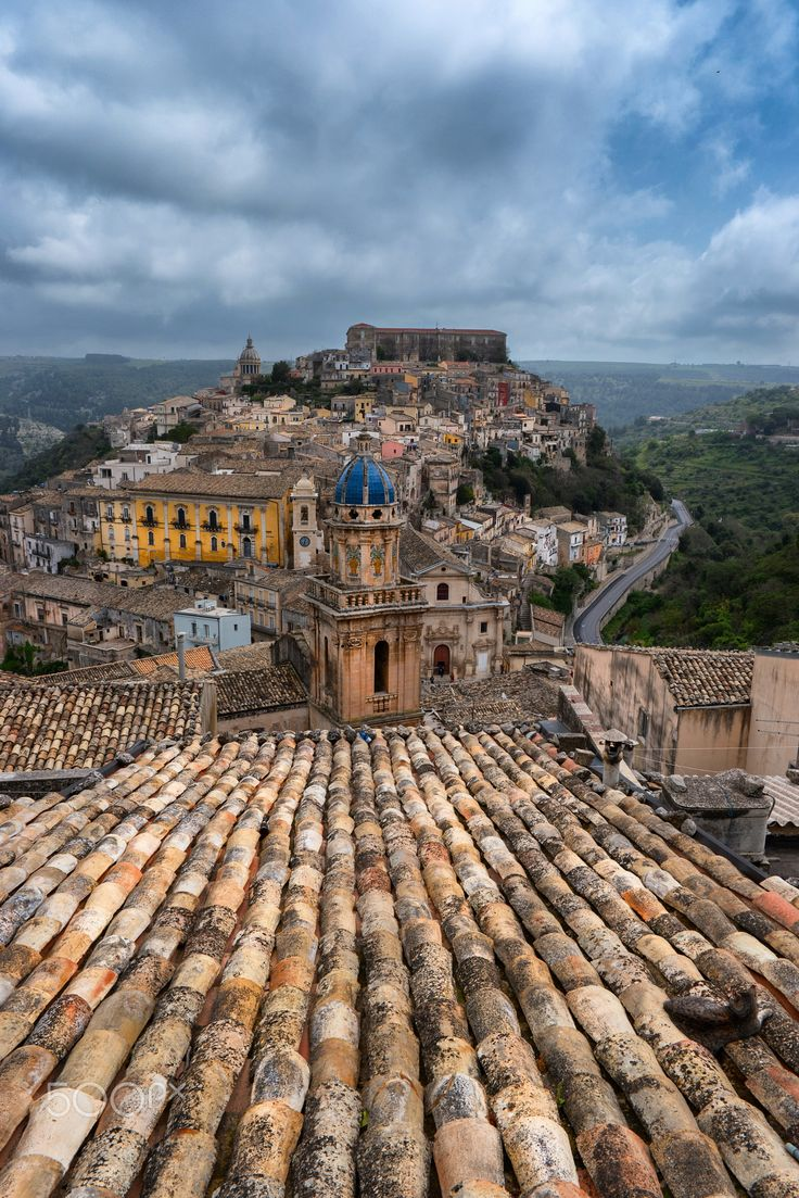 Cat on a Roof - Ragusa, Sicily, Italy