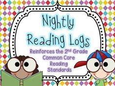Make reading homework meaningful with these nightly reading logs. EVERY 2nd grade Common Core Reading Standard is included!
