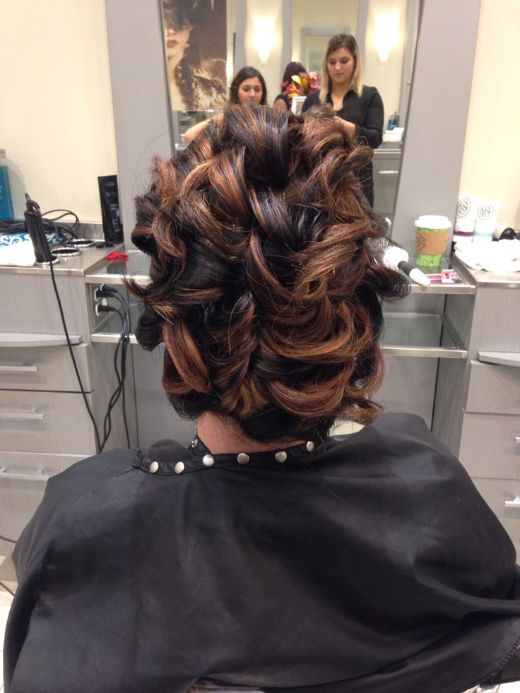 Up do for Indian wedding on short hair