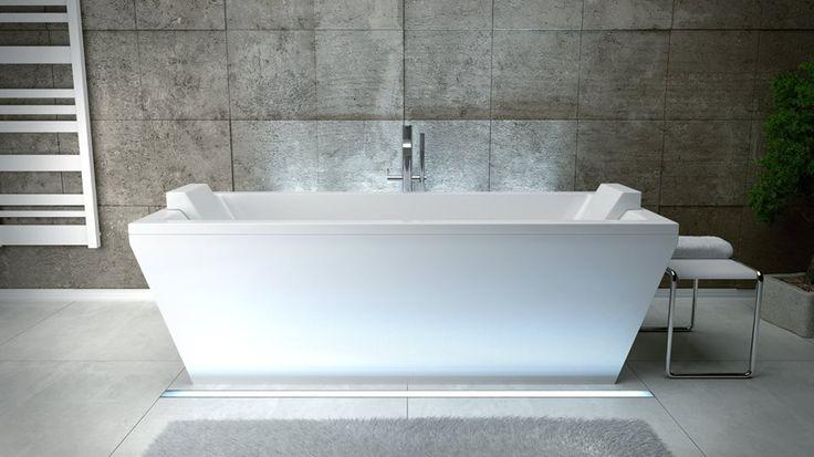 """Idealna do nowoczesnego wnętrza będzie Nasza wanna VERA. Z pewnością przypadnie do gustu tym z Was, którzy lubią dzielić chwilę kąpielowego relaksu ze swoją """"drugą połówką"""" :) Dostępna w wymiarach 170x 75cm oraz 180x 80cm"""