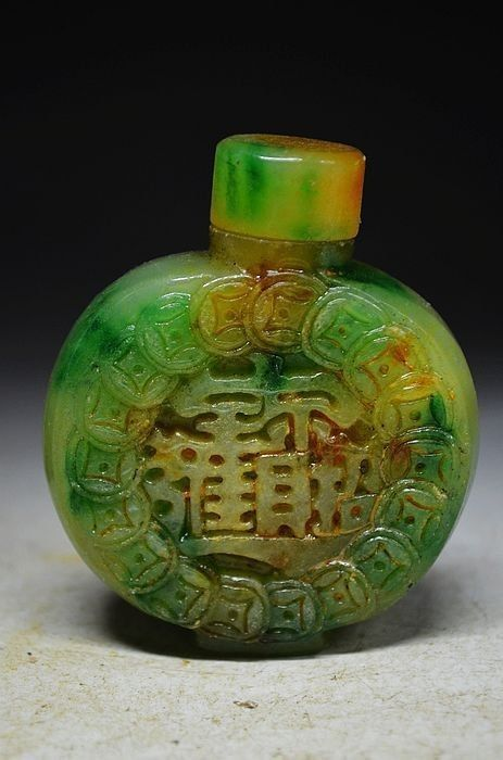 Pure natural Chinese jadeite carved snuff bottles by MOSTLYOLDPAWN