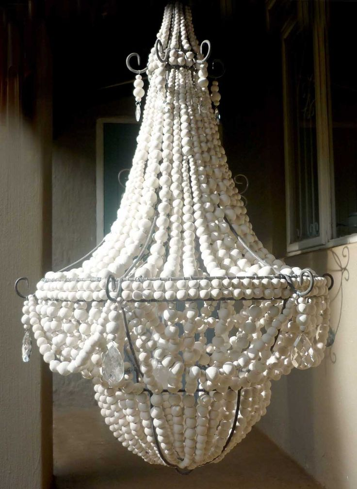 Gorgeous Wood Bead Chandelier for Lighting Ideas: Empire Style Chandelier  With