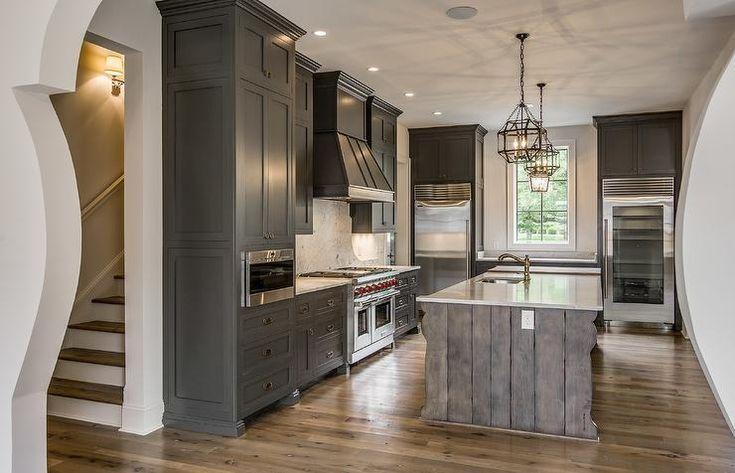 Best Mediterranean Kitchen Features Gray Shaker Cabinets 640 x 480