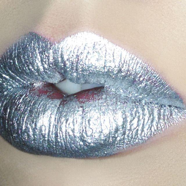 Silver lipstick.