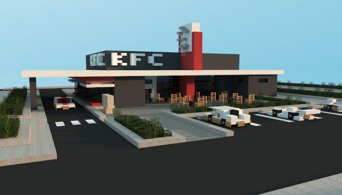 Minecraft KFC Restaurant | Fried Chicken Shop, creation #4415