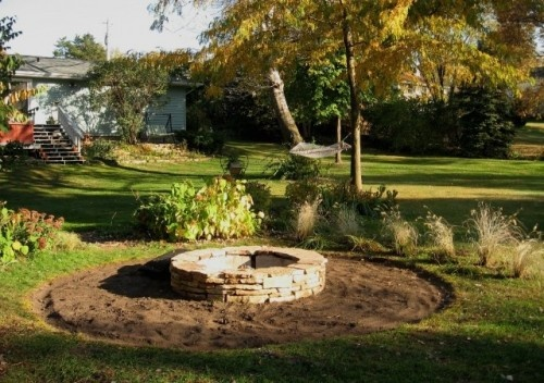 Stacked Stone Fire Pit How To