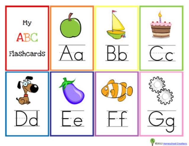 ... Printable Alphabet Flash Cards for Preschoolers | Kids alphabet, Kid