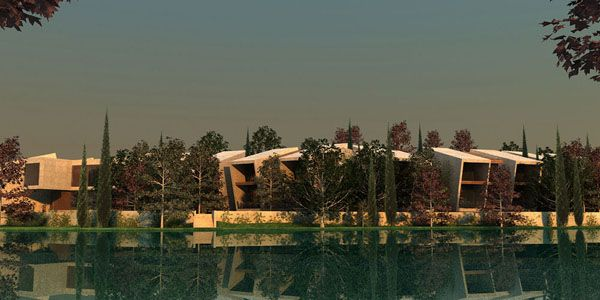 Ponte Caldelas Hotel. by architecture studio A-cero, directed by Joaquin Torres, will build a hotel and spa near the Verdugo river, in Ponte Caldelas, northern Spain.