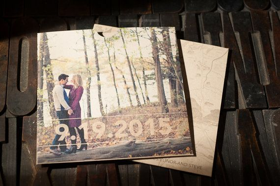 Custom CD Sleeve Save The Date  https://www.etsy.com/listing/219821004/kraft-cd-sleeve-save-the-date-dvd-sleeve