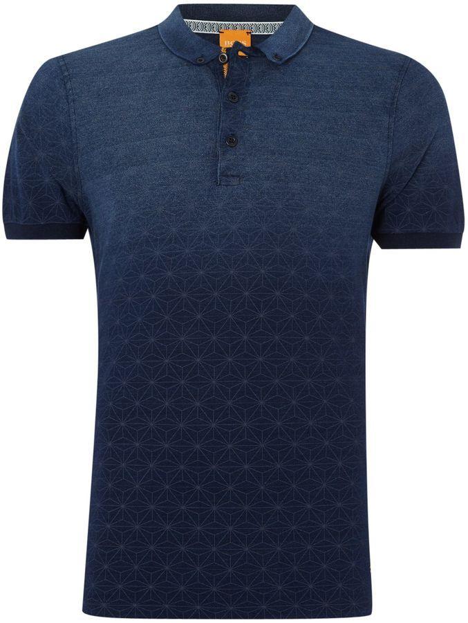 Men's Hugo Boss Pachouly fashion fit faded geo print polo shirt