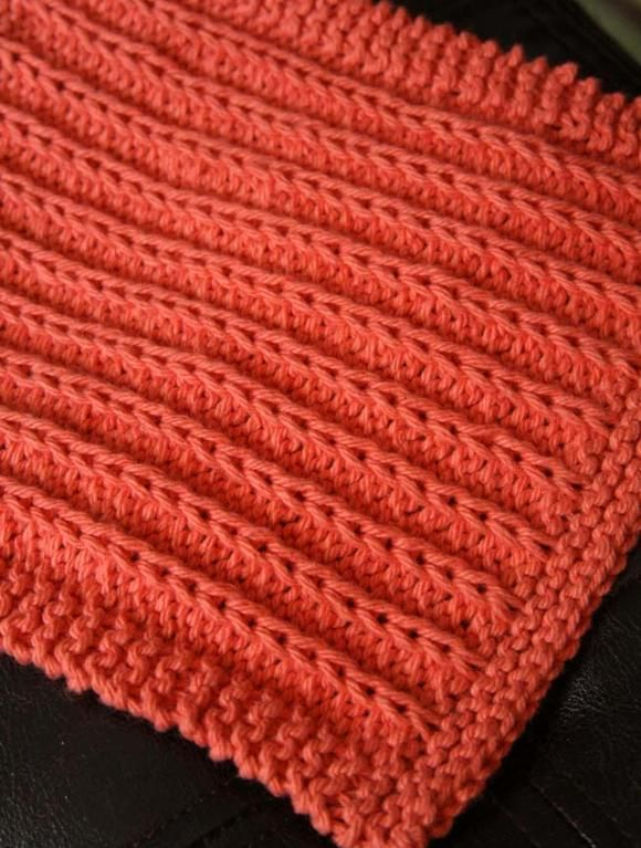 Fields and Furrows Dishcloth