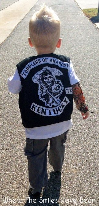 Sons of Anarchy Toddler Halloween Costume: Toddlers of Anarchy Cuteness!
