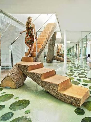 Log staircase