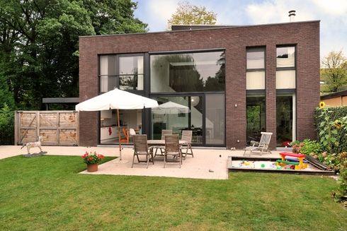 Moderne woning rechthoek google search huis pinterest architecture houzz and terraced house - Eigentijds rechthoek huis ...