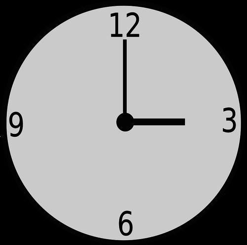 Ronde klok vector tekening