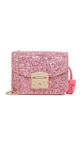 Furla Glitter Metropolis Cross Body Bag