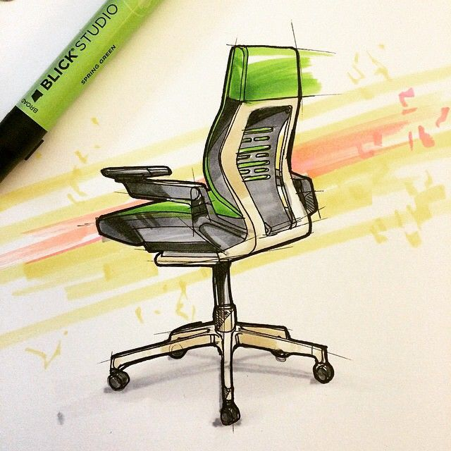 A wonderful sketch of our Gesture chair by industrial designer @marcus_hamilton108 on Instagram! He does great work, check out his account.