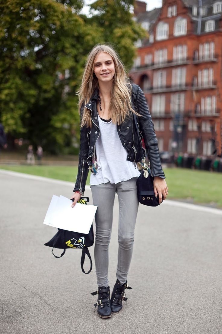 How to wear leather jackets. How to pair leather jackets with dresses. Leather jacket street style.