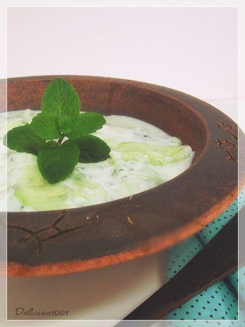 Salada síria de pepino e iogurte - Delícias 1001Delícias 1001