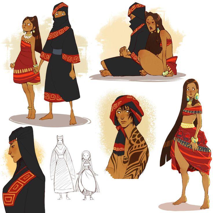Cartoon Character Design Inspiration : Alma and iman by chopstuff on deviantart ressai pinterest