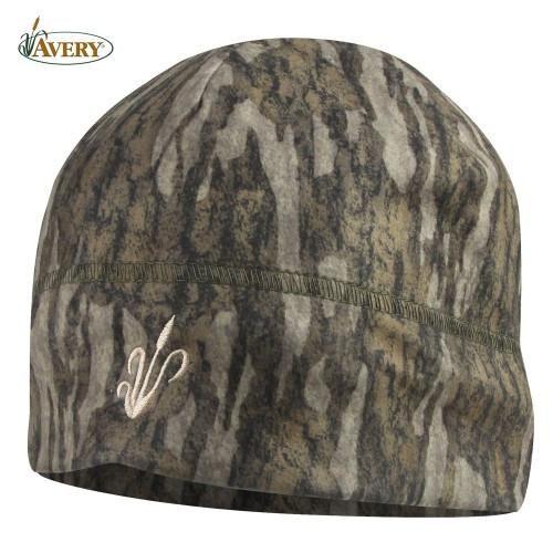 "Pro Duck & Goose Hunting Supplies - Avery ""Double"" Fleece Skull Cap Mossy Oak Bottomland"