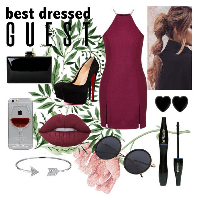 """Best Dressed Guest"" by just-teriv on Polyvore featuring Topshop, Reyes, Lime Crime, Bling Jewelry, Dollydagger, Lancôme, napa, winerywedding, bestdressedguest and vineyardwedding"