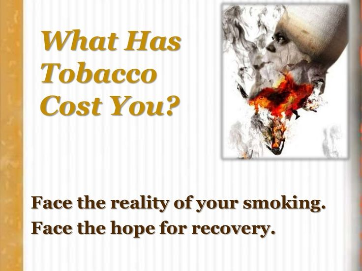 Calculate the costs of nicotine addiction. Financial is just one measure. This slide show asks you some hard hitting questions. If you need some help to break …