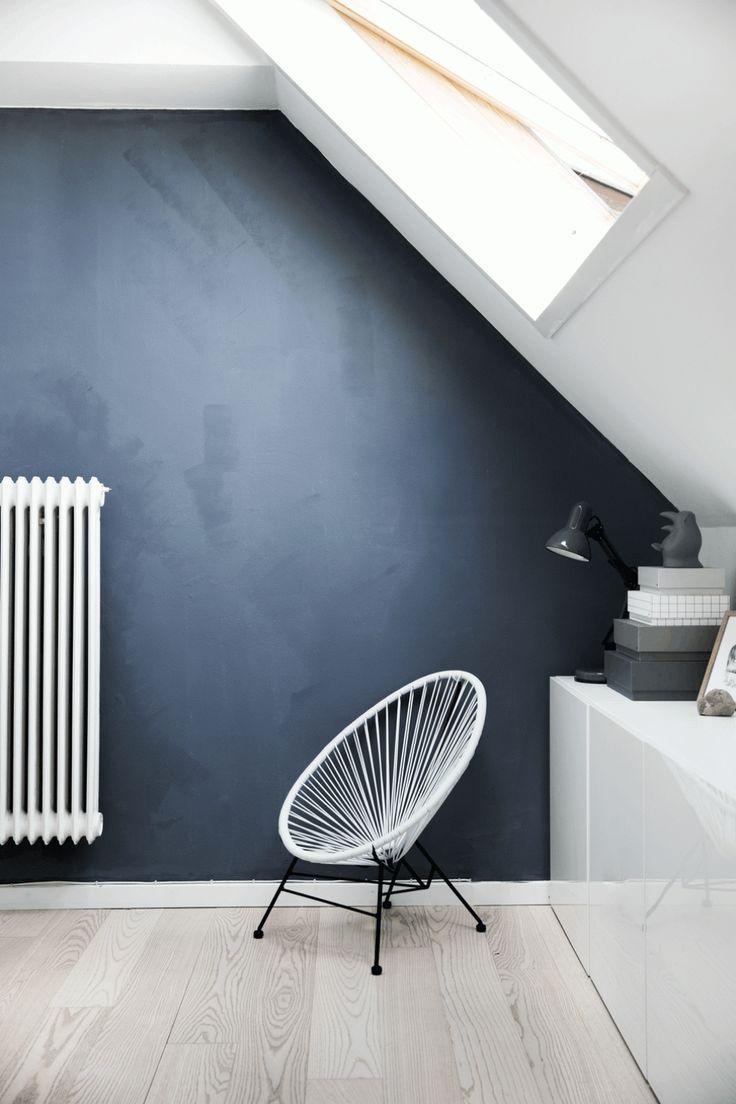 Les 25 meilleures id es de la cat gorie parquet gris sur pinterest - Mur bleu petrole ...