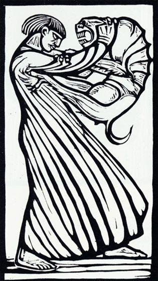 Gustav Vigeland, woodcut: