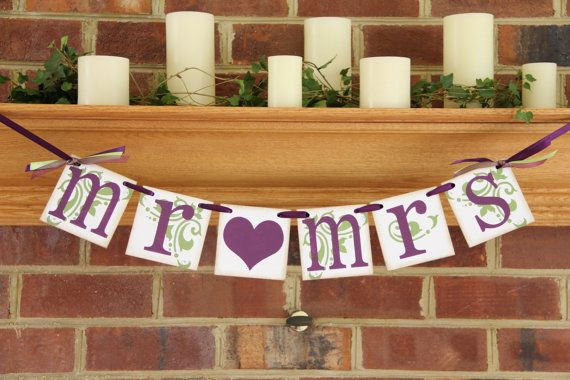 Mr and Mrs Wedding Banners Reception Sign Wedding by BannerBash, $14.00