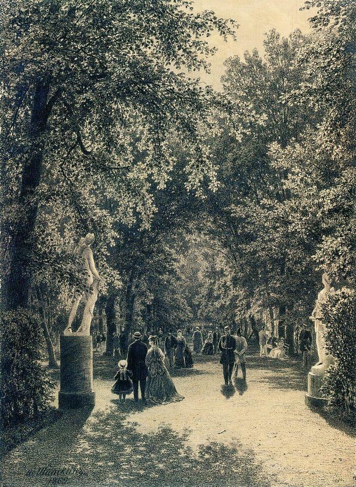 Ivan Shishkin, Alley of the Summer Garden in St. Petersburg, 1869.