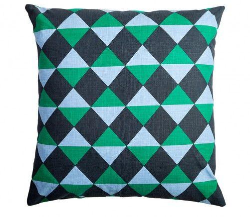 Make a splash! @Pamela Sances-Kosinski Design Harlequin Cushion $44.93 from BeddingCo http://www.beddingco.com.au/citta-design-harlequin-cushion-soot-jade-lavender.html