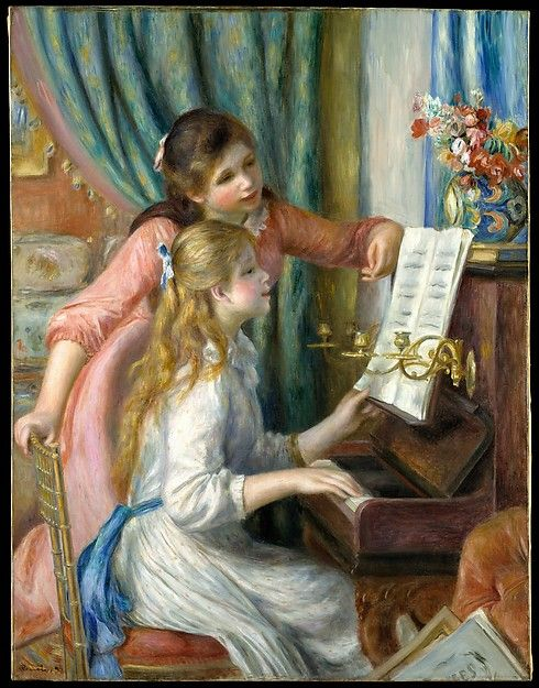 Auguste Renoir (French, 1841–1919). Two Young Girls at the Piano, 1892. The Metropolitan Museum of Art, Robert Lehman Collection, 1975 (1975.1.201)