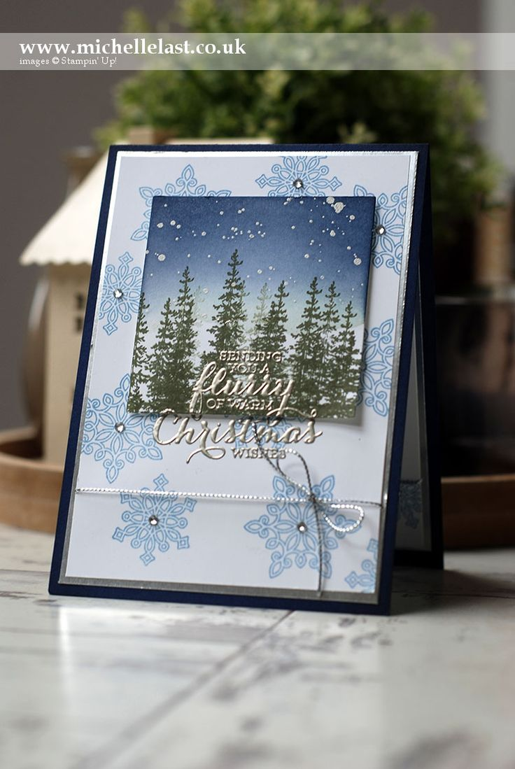 Flurry of Wishes from Stampin' Up! to make this beautiful Christmas Card by Michelle Last Top UK Demo. Let me know if you would like a copy of the new seasonal catalogue.