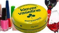 Vaselin är bra till mycket. Visste du exempelvis att det kan hjälpa mot rödvinsfläckar?