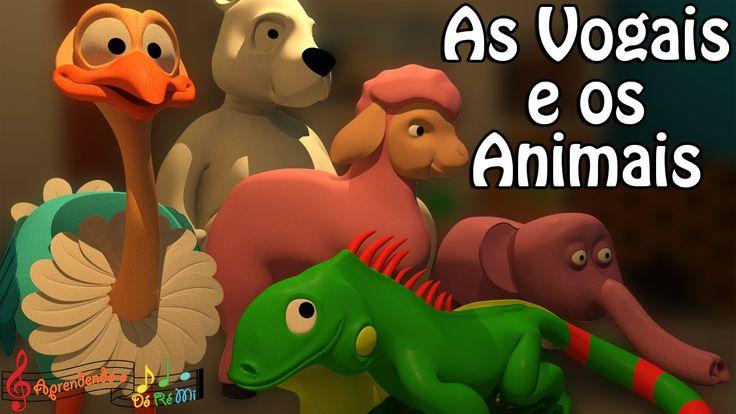 As Vogais: AEIOU e os Animais (Música Educativa Infantil para Alfabetiza...