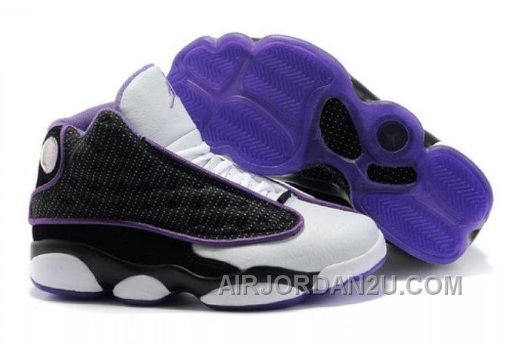http://www.airjordan2u.com/womens-nike-air-jordan-13-shoes-white-black-purple-new-arrival.html WOMEN'S NIKE AIR JORDAN 13 SHOES WHITE/BLACK/PURPLE NEW ARRIVAL Only $85.00 , Free Shipping!