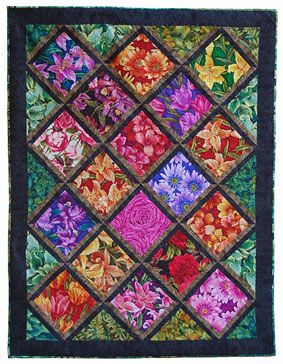 Free Quilt Patterns For Beginners | Tuesday Garden Club Lap Quilt Pattern Download from ConnectingThreads ...