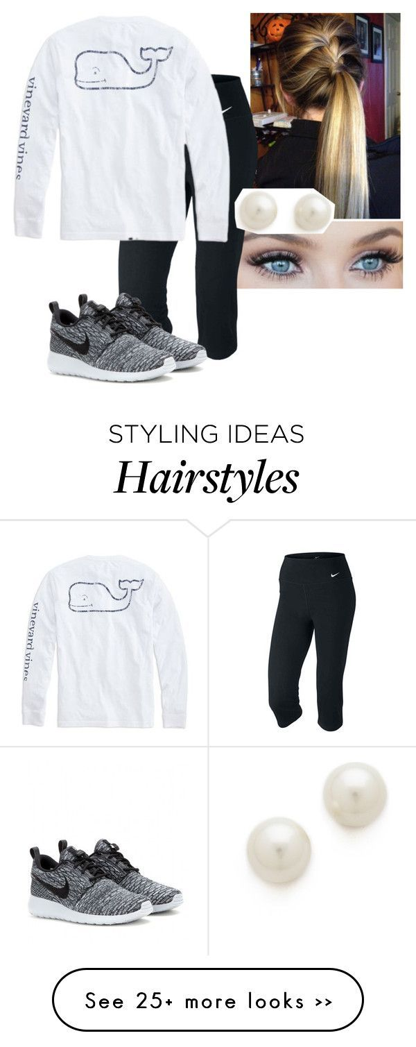 """""""I really liked this hair"""" by ryry10 on Polyvore featuring NIKE, Vineyard Vines and Kenneth Jay Lane"""