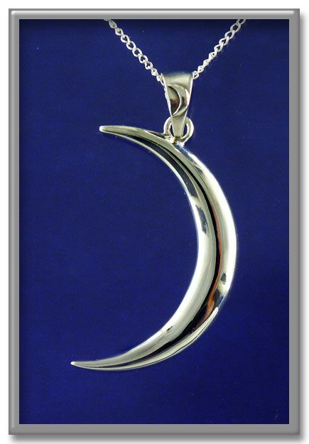 """Lunar Magic Pendant - Ever-changing, yet always the same--the Moon's cycle through her phases is mysterious and wonderful. The new moon is a time for growth and beginnings. Approximately 1 1/4"""" tall. Includes 18"""" Sterling Silver chain.<BR><BR><span class=""""clearance"""">New Lower Price!</span>"""