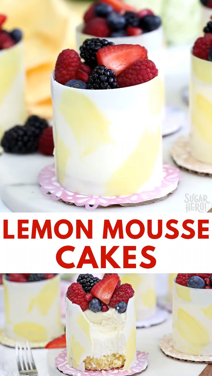Lemon Mousse Cakes Video  – Andrea Gamulin