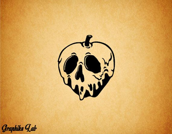 Poisonous Apple Decal Rotten Bad Apple Vinyl Decal. This item is 4 in height by 3.49 in width. Sizes range from 4 to 13 in height depending on your