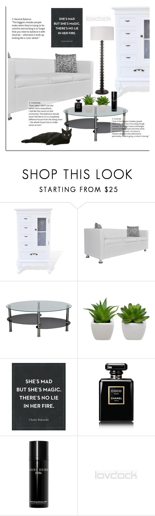 Lovdock by dora04 on Polyvore featuring interior, interiors, interior design, home, home decor, interior decorating, Chanel, Bobbi Brown Cosmetics and lovdock