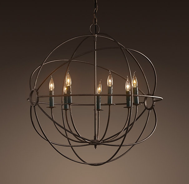Foucaults iron orb chandelier medium 795