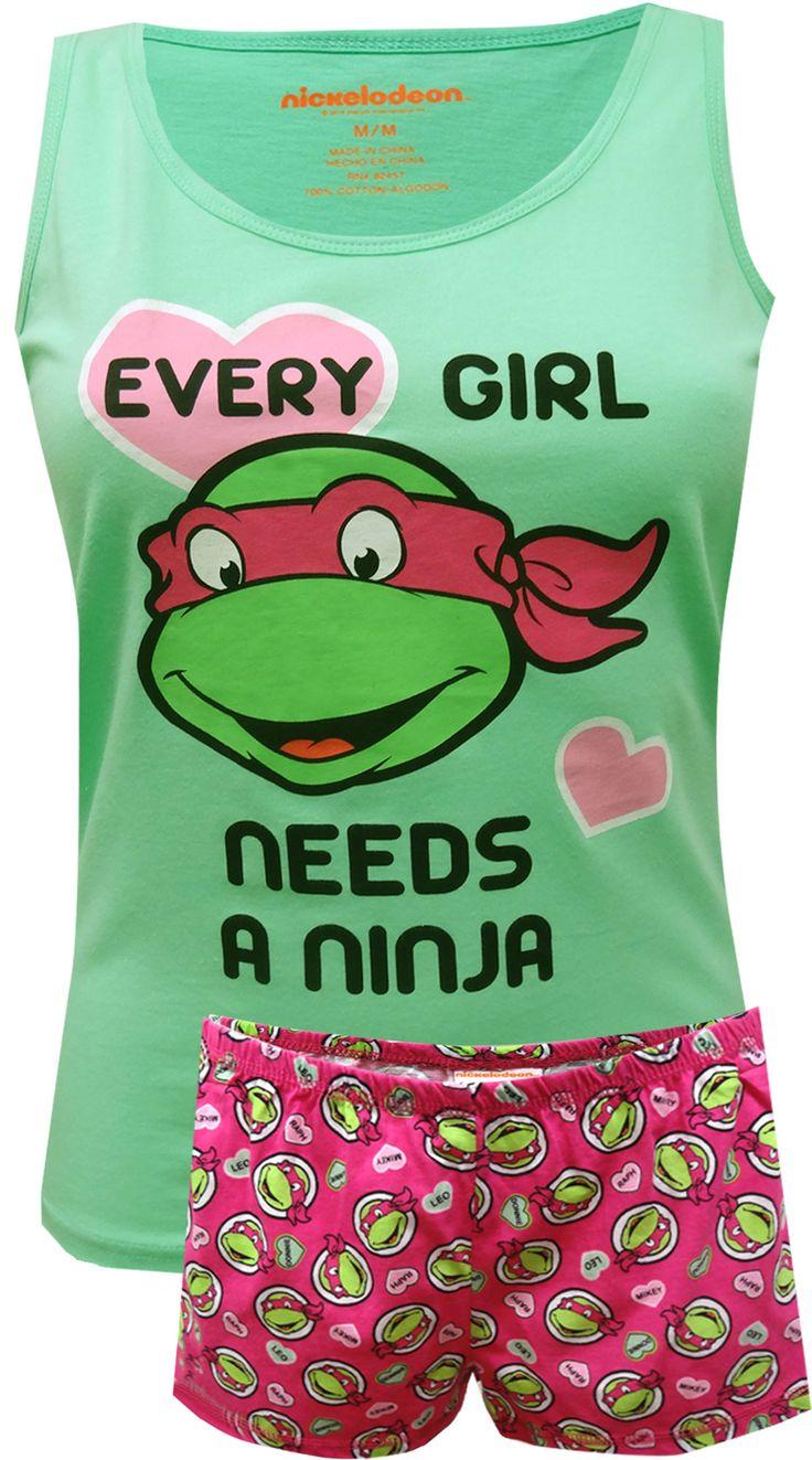 Teenage Mutant Ninja Turtle Ladies Plus Size Shortie Pajama