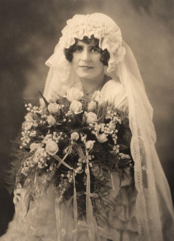 vintage wedding portrait, unknown lady - Foter