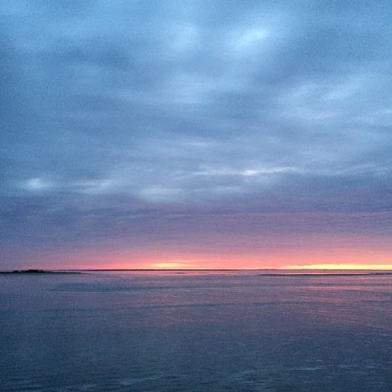 Beautiful Sunrises to start your week.    Bald Head Island Ferry on the Cape Fear River